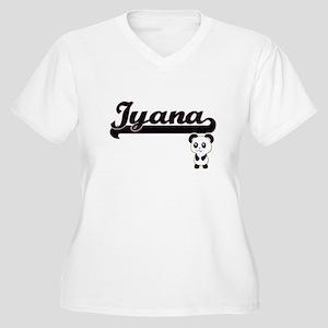 Iyana Classic Retro Name Design Plus Size T-Shirt