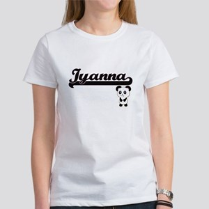 Iyanna Classic Retro Name Design with Pand T-Shirt