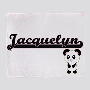Jacquelyn Classic Retro Name Design Throw Blanket