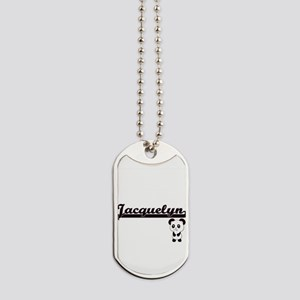 Jacquelyn Classic Retro Name Design with Dog Tags