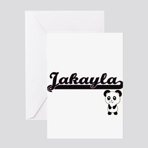 Jakayla Classic Retro Name Design w Greeting Cards