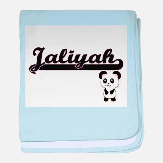 Jaliyah Classic Retro Name Design wit baby blanket