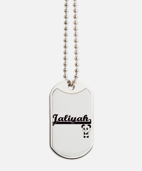 Jaliyah Classic Retro Name Design with Pa Dog Tags