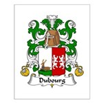 Dubourg Family Crest Small Poster