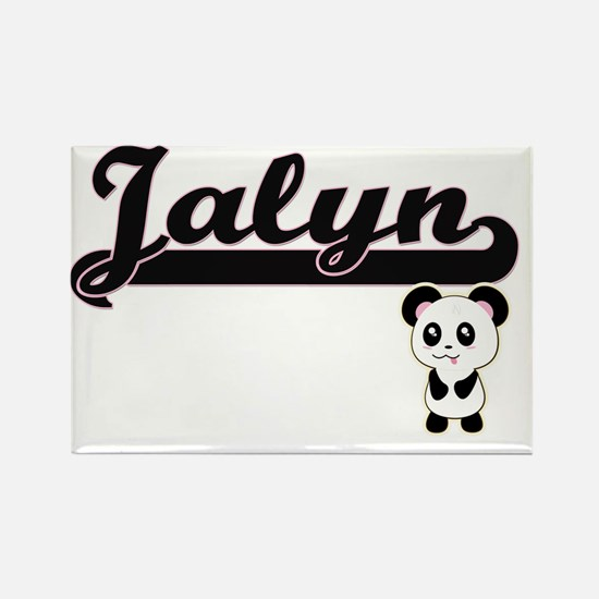 Jalyn Classic Retro Name Design with Panda Magnets