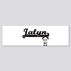 Jalyn Classic Retro Name Design wit Bumper Sticker