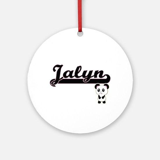 Jalyn Classic Retro Name Design w Ornament (Round)