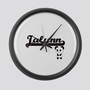 Jalynn Classic Retro Name Design Large Wall Clock