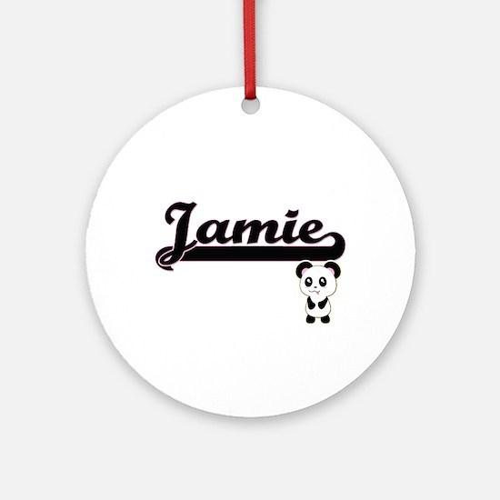 Jamie Classic Retro Name Design w Ornament (Round)