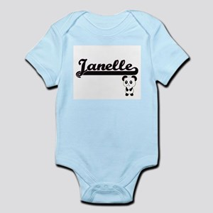 Janelle Classic Retro Name Design with P Body Suit