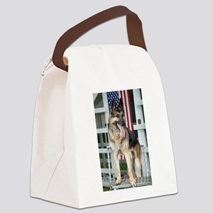 German Shepherd Dog Canvas Lunch Bag