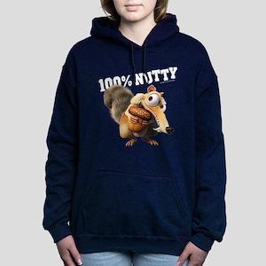 Ice Age Scrat 100% Nutty Women's Hooded Sweatshirt