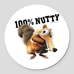 Ice Age Scrat 100% Nutty Round Car Magnet