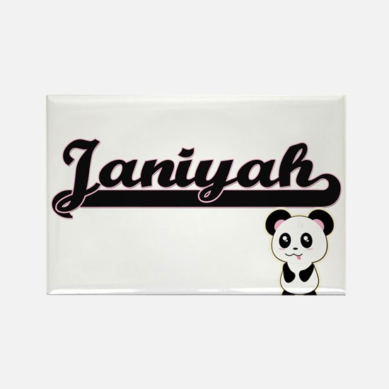 Janiyah Classic Retro Name Design with Pan Magnets