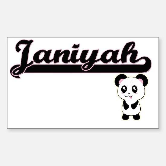Janiyah Classic Retro Name Design with Pan Decal