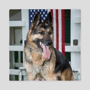 German Shepherd Dog Queen Duvet