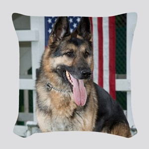 German Shepherd Dog Woven Throw Pillow