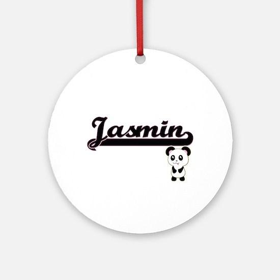 Jasmin Classic Retro Name Design Ornament (Round)