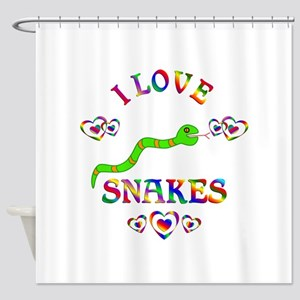 I Love Snakes Shower Curtain