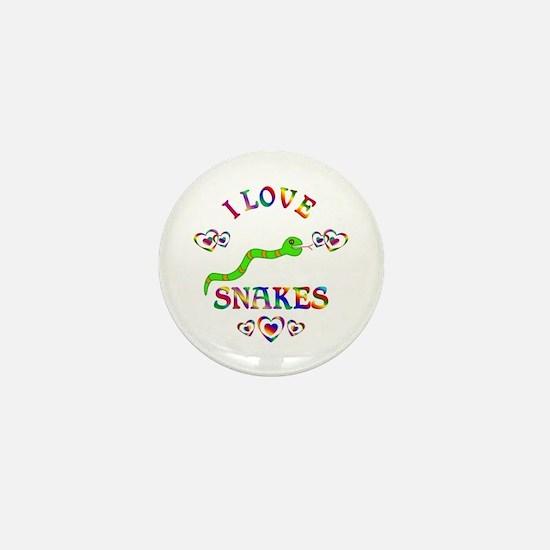 I Love Snakes Mini Button