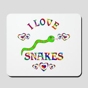 I Love Snakes Mousepad