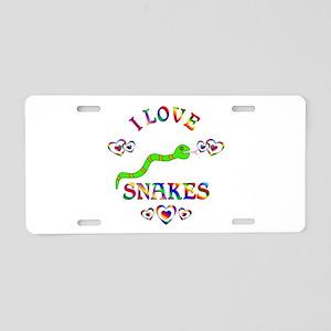 I Love Snakes Aluminum License Plate