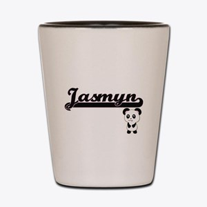 Jasmyn Classic Retro Name Design with P Shot Glass