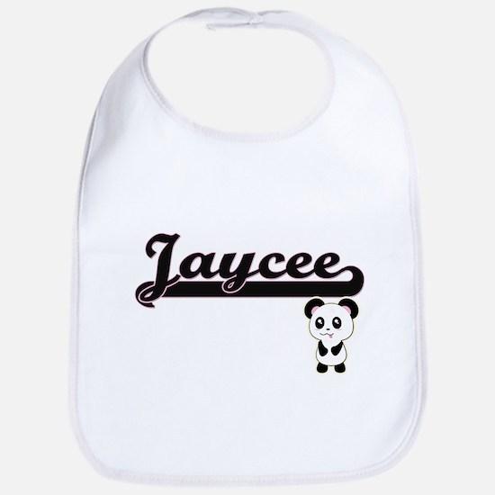 Jaycee Classic Retro Name Design with Panda Bib