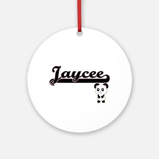 Jaycee Classic Retro Name Design Ornament (Round)