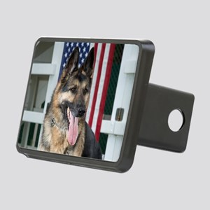 German Shepherd Dog Rectangular Hitch Cover