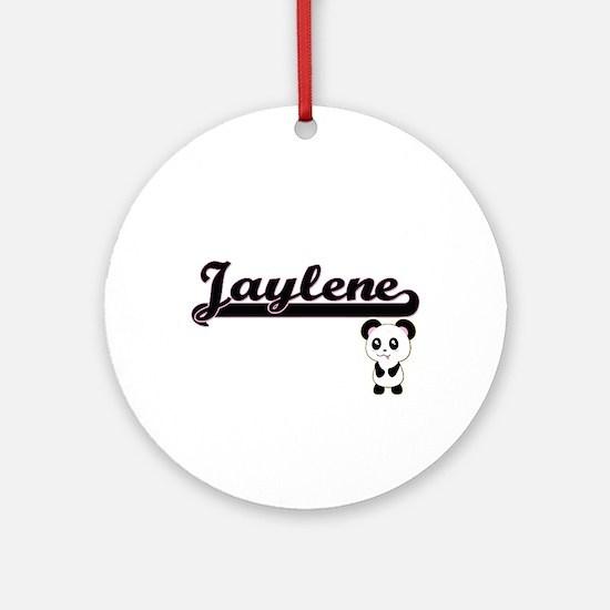 Jaylene Classic Retro Name Design Ornament (Round)