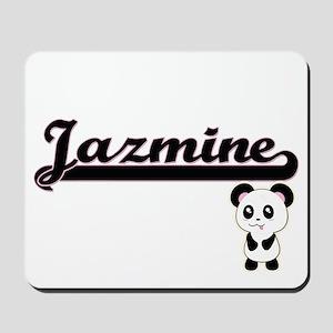 Jazmine Classic Retro Name Design with P Mousepad