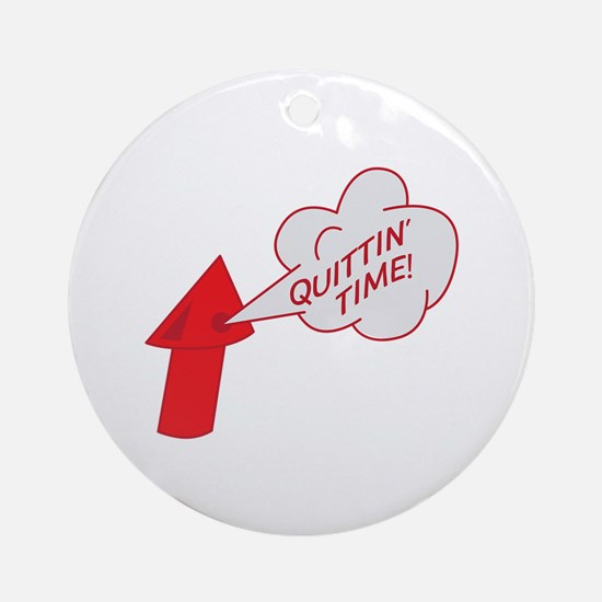 Quitting time whistle Ornament (Round)