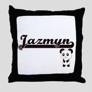 Jazmyn Classic Retro Name Design with Throw Pillow