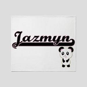 Jazmyn Classic Retro Name Design wit Throw Blanket