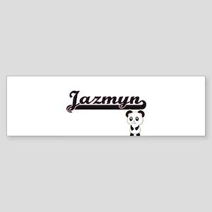 Jazmyn Classic Retro Name Design wi Bumper Sticker