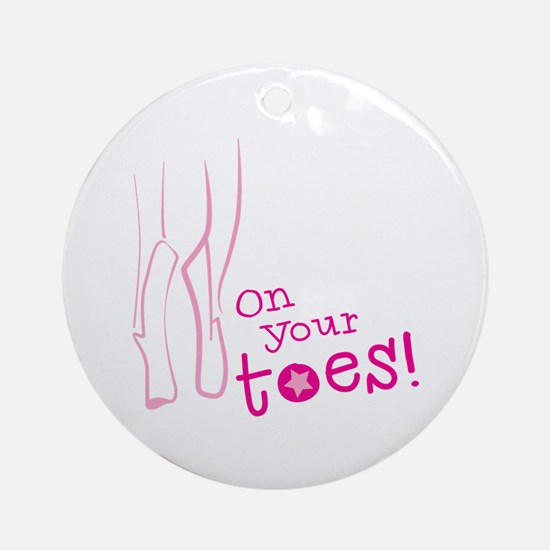 On your toes ballet Ornament (Round)