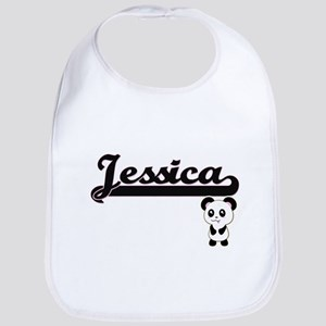 Jessica Classic Retro Name Design with Panda Bib