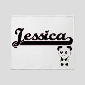 Jessica Classic Retro Name Design wi Throw Blanket
