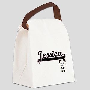Jessica Classic Retro Name Design Canvas Lunch Bag