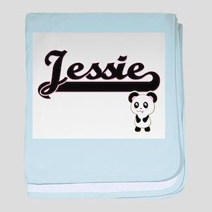 Jessie Classic Retro Name Design with baby blanket