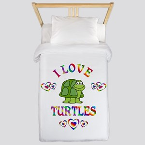 I Love Turtles Twin Duvet
