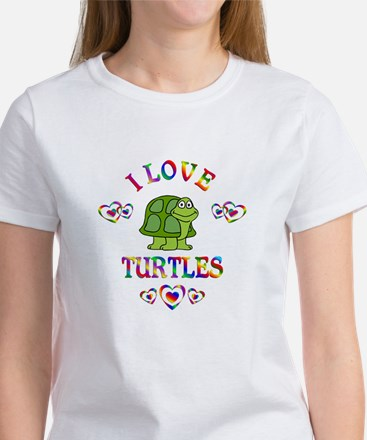 I Love Turtles Women's T-Shirt