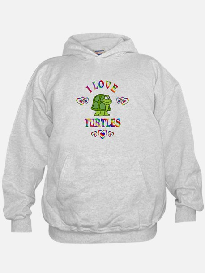 I Love Turtles Hoody