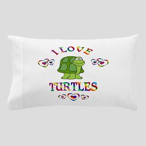 I Love Turtles Pillow Case