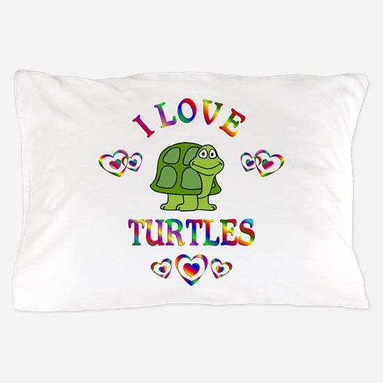 I Love Turtles Pillow Case