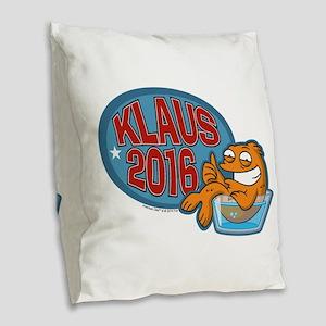Klaus 2016 Burlap Throw Pillow