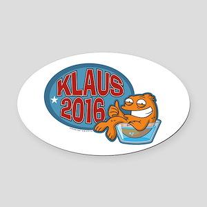 Klaus 2016 Oval Car Magnet