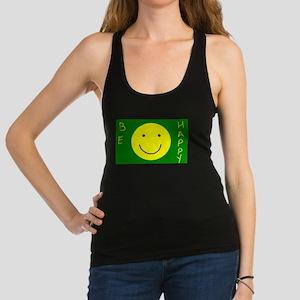 Be Happy Racerback Tank Top