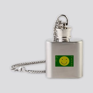 Be Happy Flask Necklace